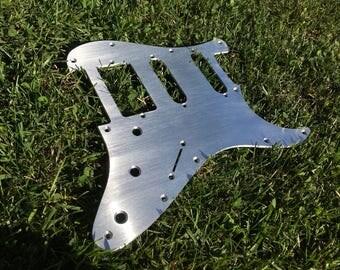Fender Stratocaster HSS Brushed Aluminum Pickguard