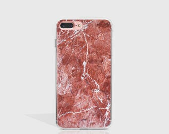Marble iPhone 7 Case Clear iPhone Case iPhone 7 Plus Case iPhone 6 Case For iPhone 6S Case Birthday Gift For Her iPhone Phone Cover -KT383
