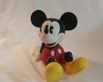 1980s Walt Disney Mickey Mouse Coin Bank