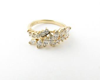 Vintage 14 Karat Yellow Gold Diamond Ring Size 7.25 #3110