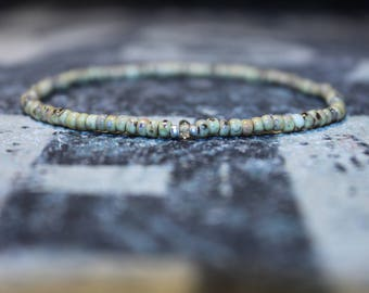 Cool Men's Bracelet with Citrine - Men's Bead Bracelets, Mens gift for him Husband Gift , Saint Valentine Gift Men, San Valentin Gift Men