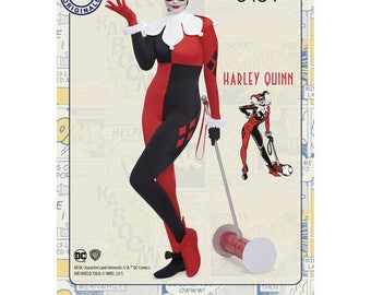 Sewing Pattern for D.C. Comics, HARLEY QUINN Costume, Simplicity Pattern 8434,Halloween Costume, DC Comics Cosplay,Plus Size Avail