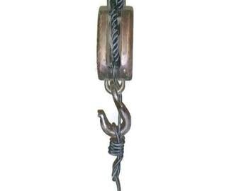 Pulley Pendant Light - Rustic hanging light