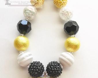 SALE! School Bus/Back to School Chunky Bubblegum Beads Necklace