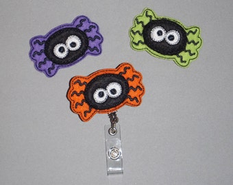 Spider Retractable Badge Reel, Halloween Badge Holder