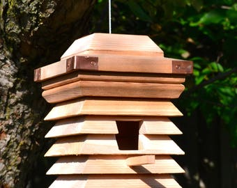 Unique Birdhouses, Outdoor Birdhouse, Modern Bird House, Handmade Cedar Birdhouses