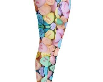Valentines Leggings - Sweetheart Leggings - Valentines Day Legging - Holiday Leggings - Valentines Gift - Valentines Clothing