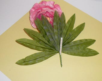 Vintage Silk Millinery Greenery Wire Stem Hatmaking Supplies Crown Hair Oranment Supplies