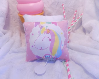 Musical plush Unicorn in organic cotton