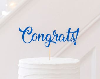 Congrats Cake Topper. Congratulations Cake Topper. Engagement Party Cake Topper. Graduation Cake Topper. Celebration Cake Topper. New Baby