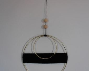 Minimalist Midcentury Geometric Wall Hanging