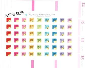 Happy MINI Get it Done Reminder Stickers for Erin Condren Life Planner ECLP Mambi Kate Spade Kikkik Personal A5 Kawaii Cute Errands Shopping