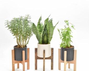 Mid Century Modern Planter, Mid Century Planter Stand, Modern Planter with Stand, Mid Century Planter Pot, West Elm Planter Stand