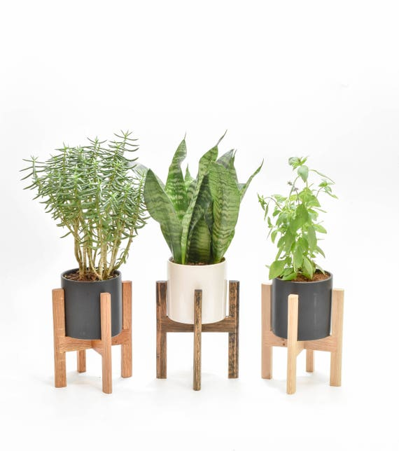 mid century modern planter mid century planter stand modern. Black Bedroom Furniture Sets. Home Design Ideas
