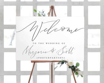 calligraphy wedding welcome sign | canvas sign | wedding sign | modern calligraphy | wedding decor | calligraphy sign |  printable sign