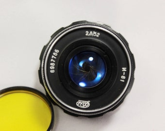 Vintage Soviet lens Industar 61 for FED, Zorki, Leica, Camera USSR 2,8/52