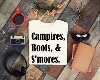 Campires Boots and S'mores svg, Fall SVG, pumpkin spice svg, football mom svg, tshirt svg, autumn svg, southern svg, thanksgiving svg file