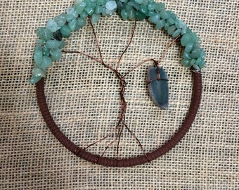 Crystal Tree of Life Dream Catcher