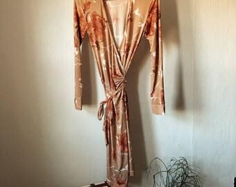 Desert Bloom Wrap Dress