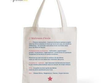 Tote Bag cotton Definition of the school teacher
