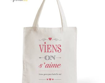 Bag Tote Bag cotton natural come On to love