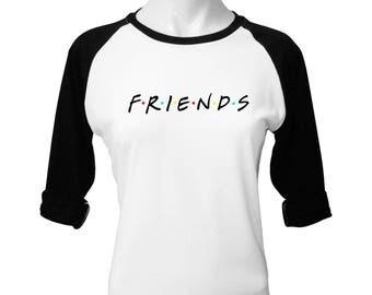 Friends TV Show Clothing Friends TV Show Shirt Friends TV Show TShirt Friends tv Series Baseball Tee Friends Shirt Women Baseball Shirt