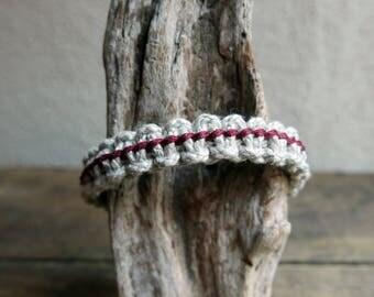 Macrame men bracelet, Hemp rope bracelet for etsy dudes, Father Gift, Casual bracelet for mens, Christmas gift for brother