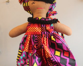 African Doll - Sandra Doll Large- Christmas Present - African Toys - Multicultural Doll - Handmade Toy - Cultural Toys - African Orniment