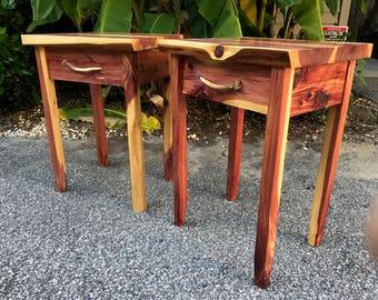 Aromatic cedar End tables