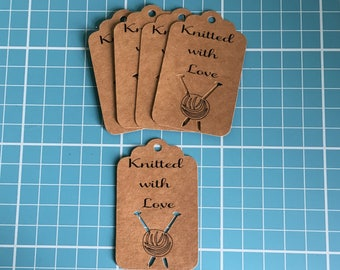 Knitting Tags, Knitting Labels, Knitted With Love Tags, Crochet Tags, Crocheted With Love, Business Branding, Luggage Tags, Handmade Tags.