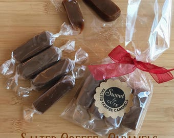 Salted Coffee Caramels