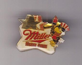 True Vintage MILLER HIGH LIFE Beer Olympics Eagle Lapel Pin, Enamel Pin, Pinback, Bartender Pin, 80s