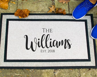 Personalized Door Mat, Welcome Doormat
