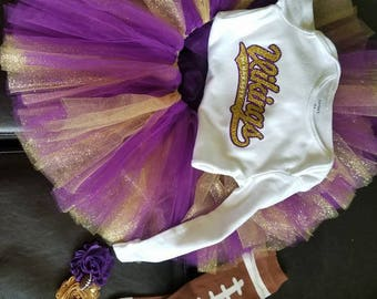 Purple and glitter gold tutu only