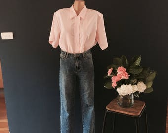 Baby pink vintage blouse