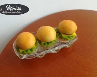 Miniature Hamburgers, 1:12 scale