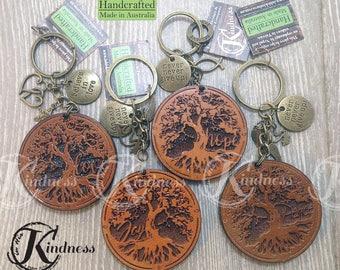 Inspirational, Elegant, Wood, Peace/ Joy / Love / Hope Tree, Keychain, laser cut, laser engraved