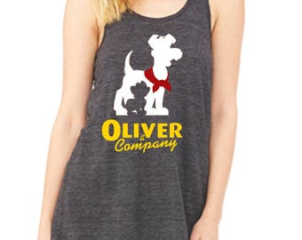 Flowy Racerback Tank Oliver & Company Shirt Disneyland Shirt Disney World Shirt Magic Kingdom Shirt