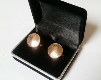 1987 30th Birthday Anniversary Retirement For Him Penny Cuff links Coin Cufflinks Present