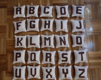 Scrabble Tile Mini Pillows