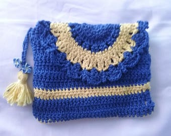 Blue and yellow bag