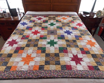 Rustic Star Twin Scrap Quilt