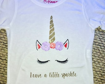 Leave a little sparkle unicorn tshirt