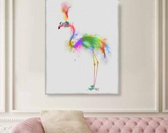 Flamingo art - Flamingo 1 Print  - Flamingo party Flamingo decor Flamingo wall print Pink flamingo print Bird painting Bird gift UK seller