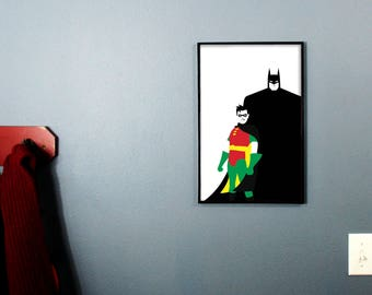 Batman and Robin from the 1990's Batman Animated Series