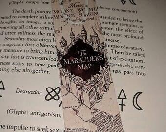 Harry Potter Marauders Map aluminum bookmark