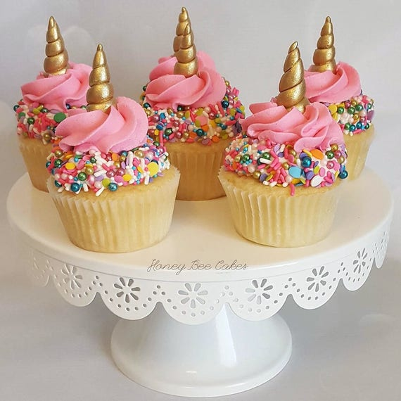 Gold Horn Cupcake Toppers FREE Sprinkle Mix