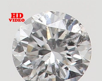 2.20 MM 0.042 Ct Natural Loose Diamond Cut Round Shape D Color VS2 Clarity N5842