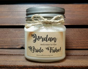 Personalized Bride Tribe Candles - Bridesmaid Candles - Maid of Honor Gifts - Bridesmaid Proposal - 8oz Will you be my Bridesmaid