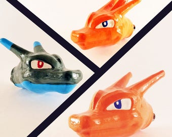 Charizard Pull Knob *3 Evolutions* Nintendo Pokemon Charizard X Charizard Y Pokemon Tournament Pokken Geek Decor Gamer Decor
